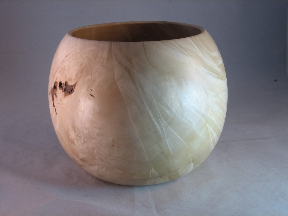 Maple burl calabash bowl
